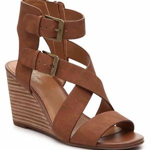 Crown Vintage Lillee Wedge Sandal Cognac